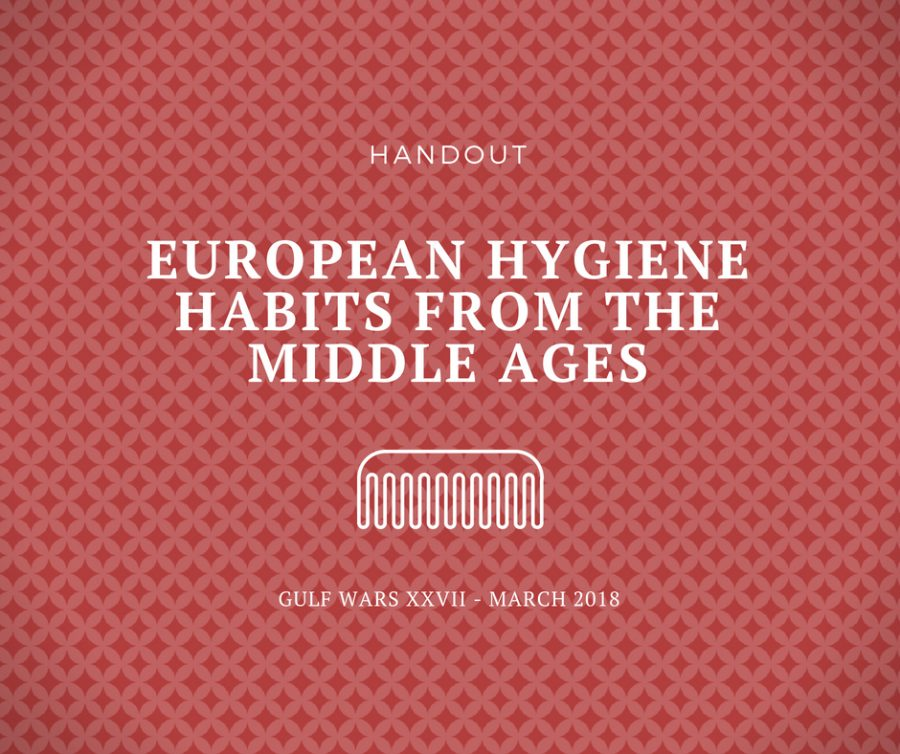 European Hygiene Habits from the Middle Ages